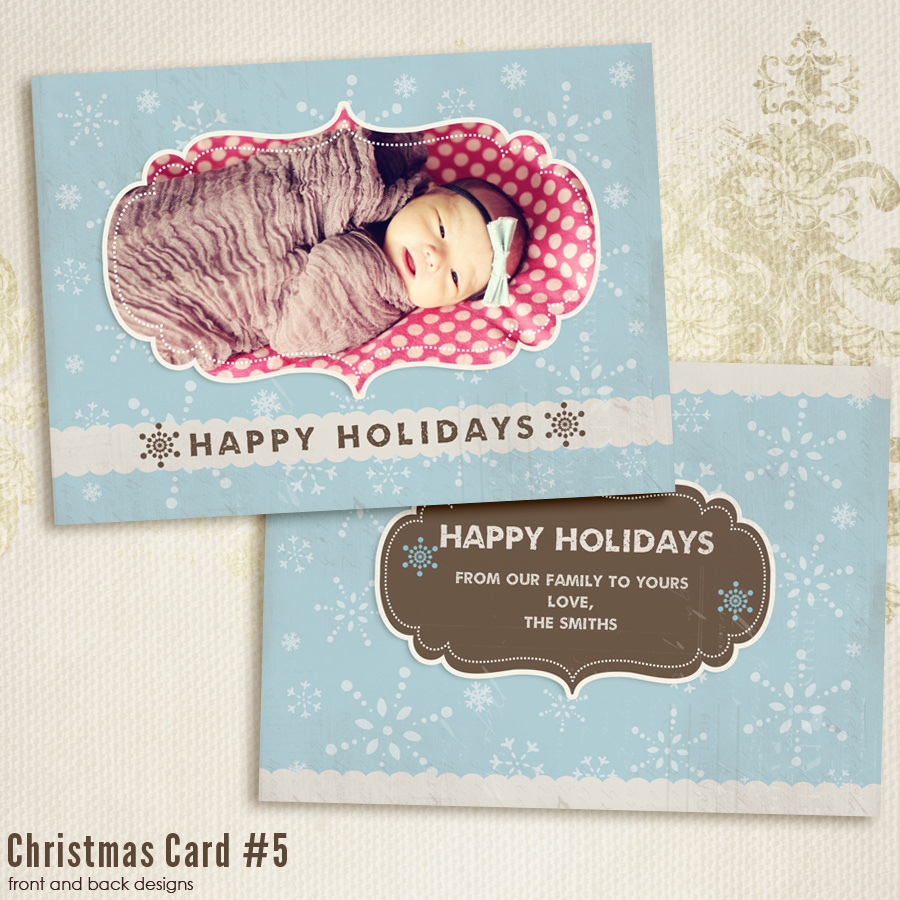 Christmas Card templates vol.5