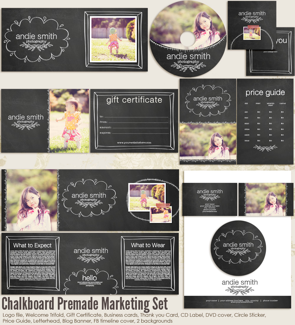 Chalkboard Premade Marketing Set