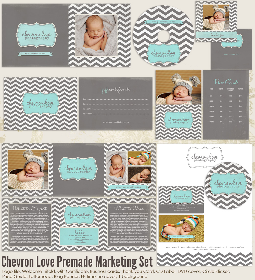 Chevron Love Marketing Set