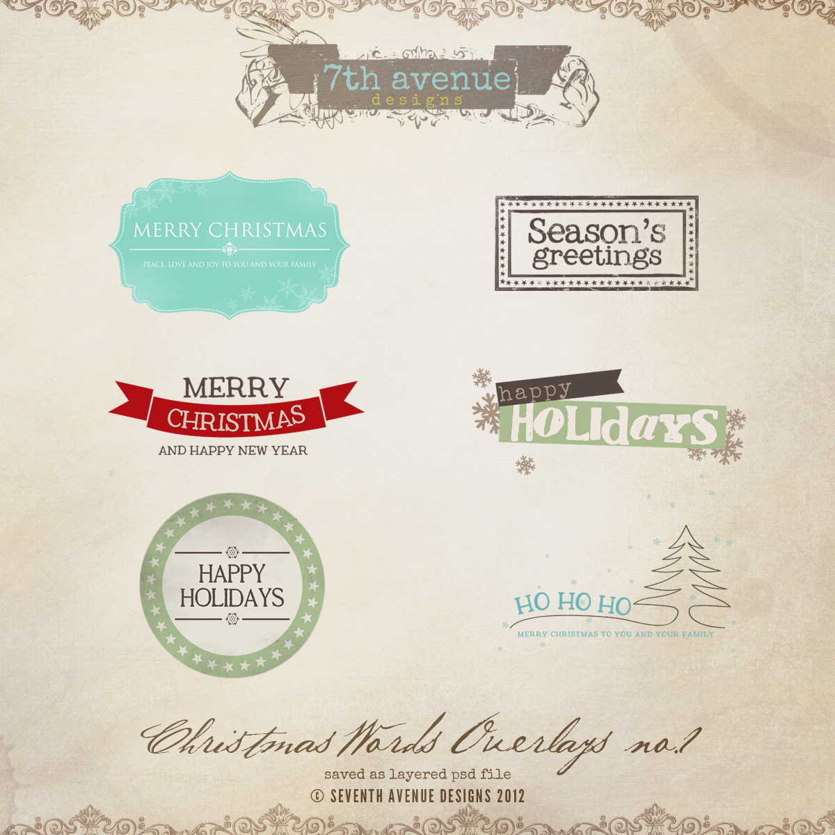 Christmas Overlays vol.1