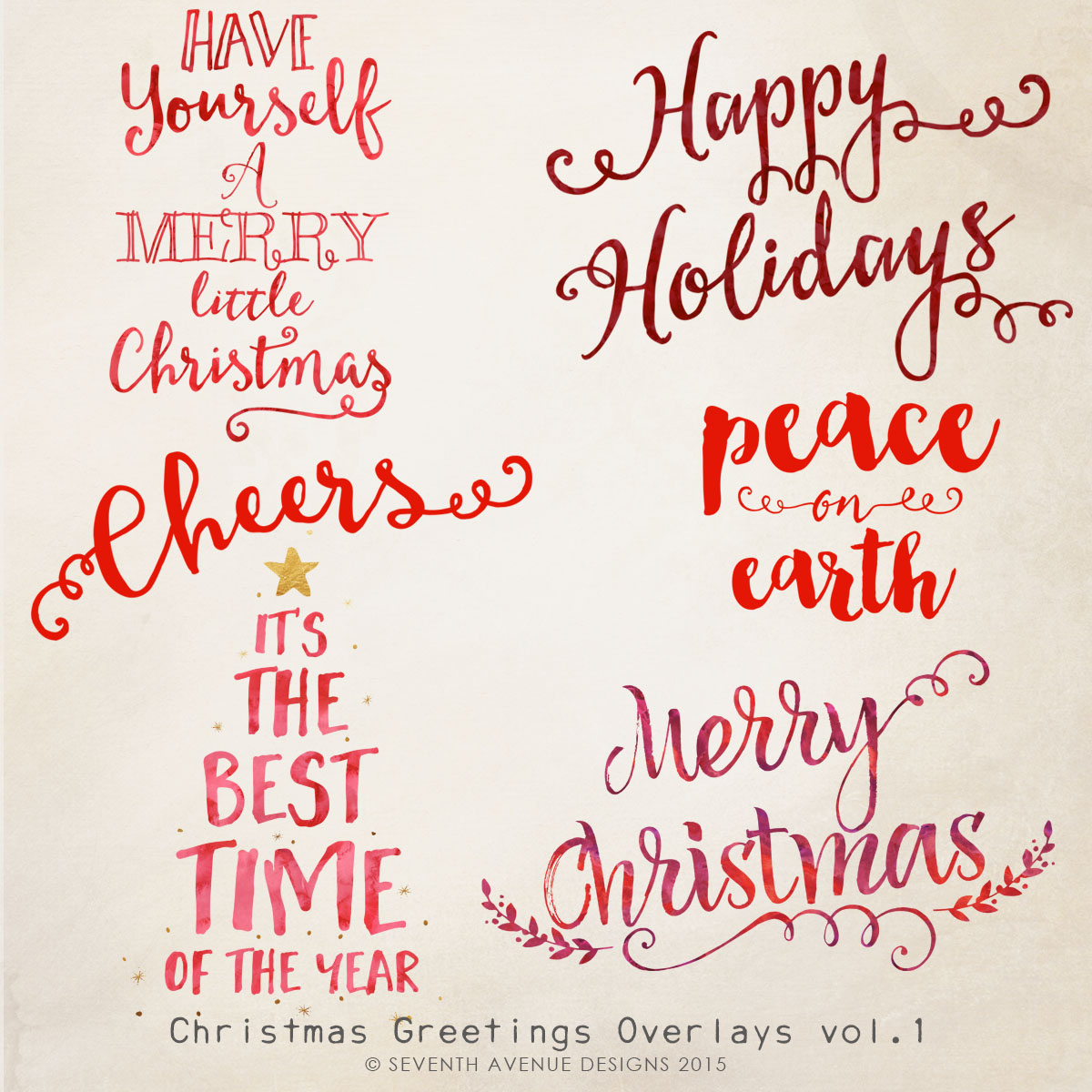 Christmas Greetings Overlays 1