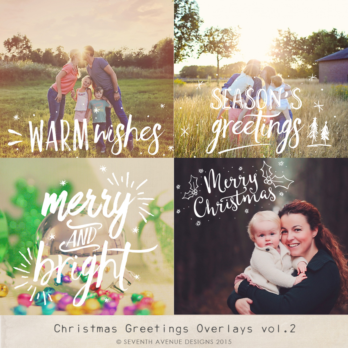 Christmas Greetings Overlays 2