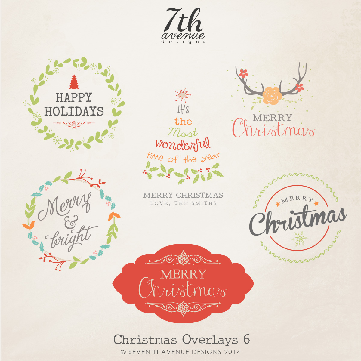 Christmas Custom Shapes Overlays vol.6