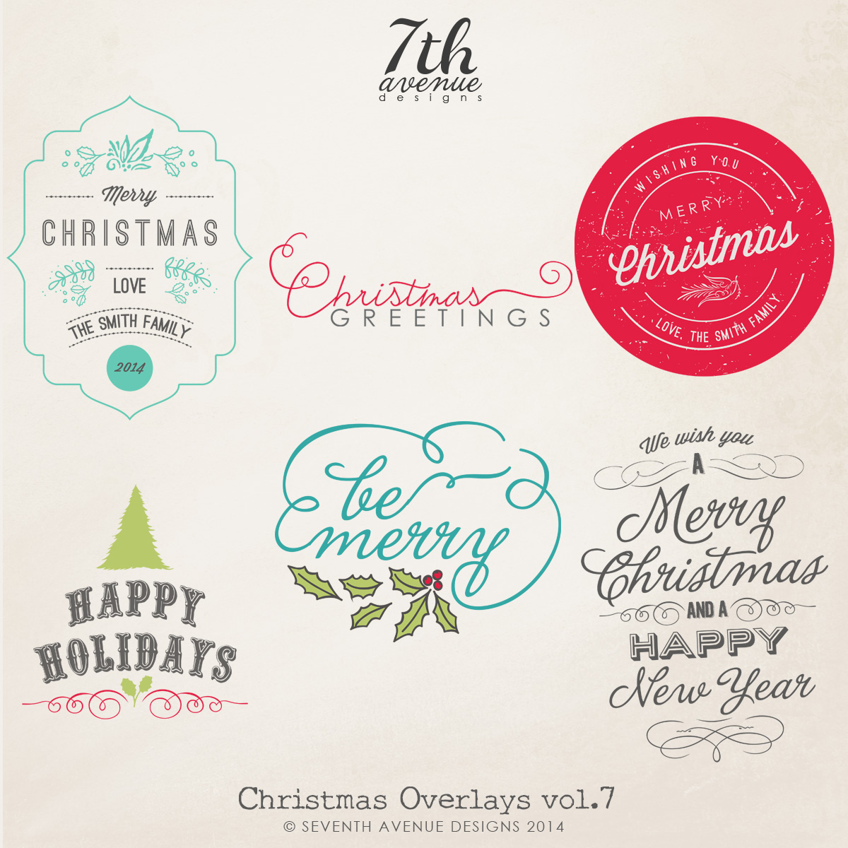 Christmas Overlays vol.7