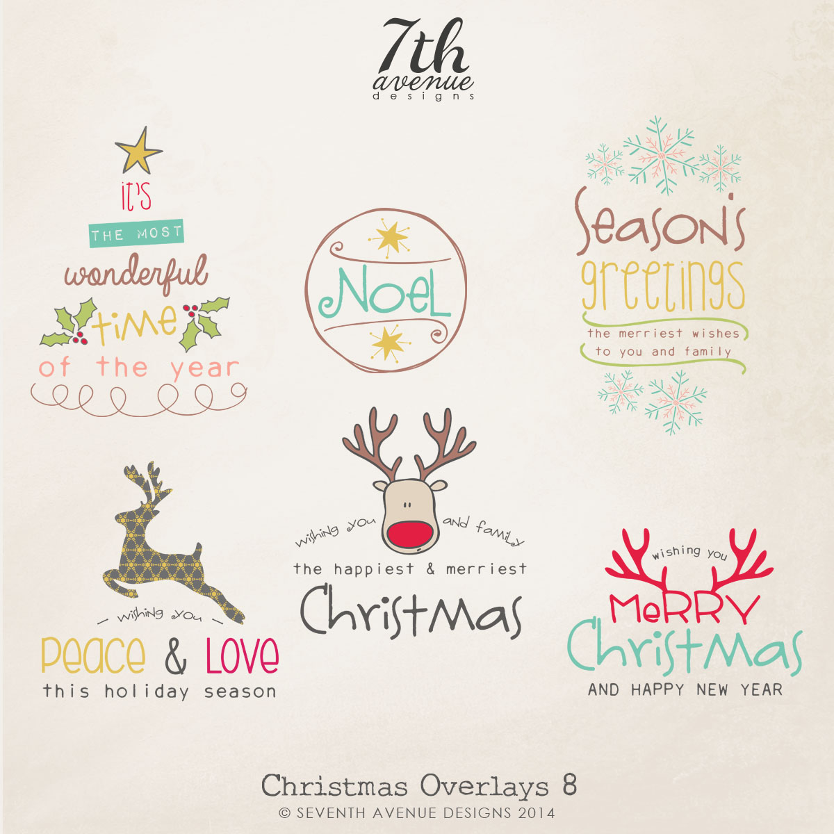 Christmas Overlays vol.8