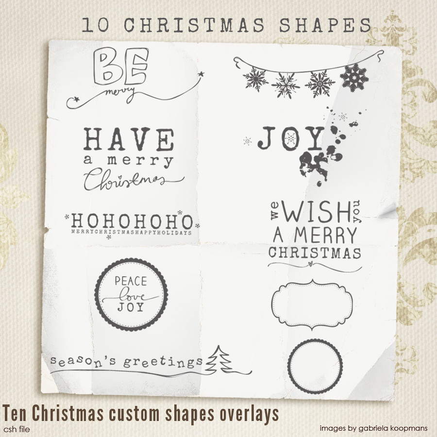 Christmas Custom Shapes Overlays vol.1