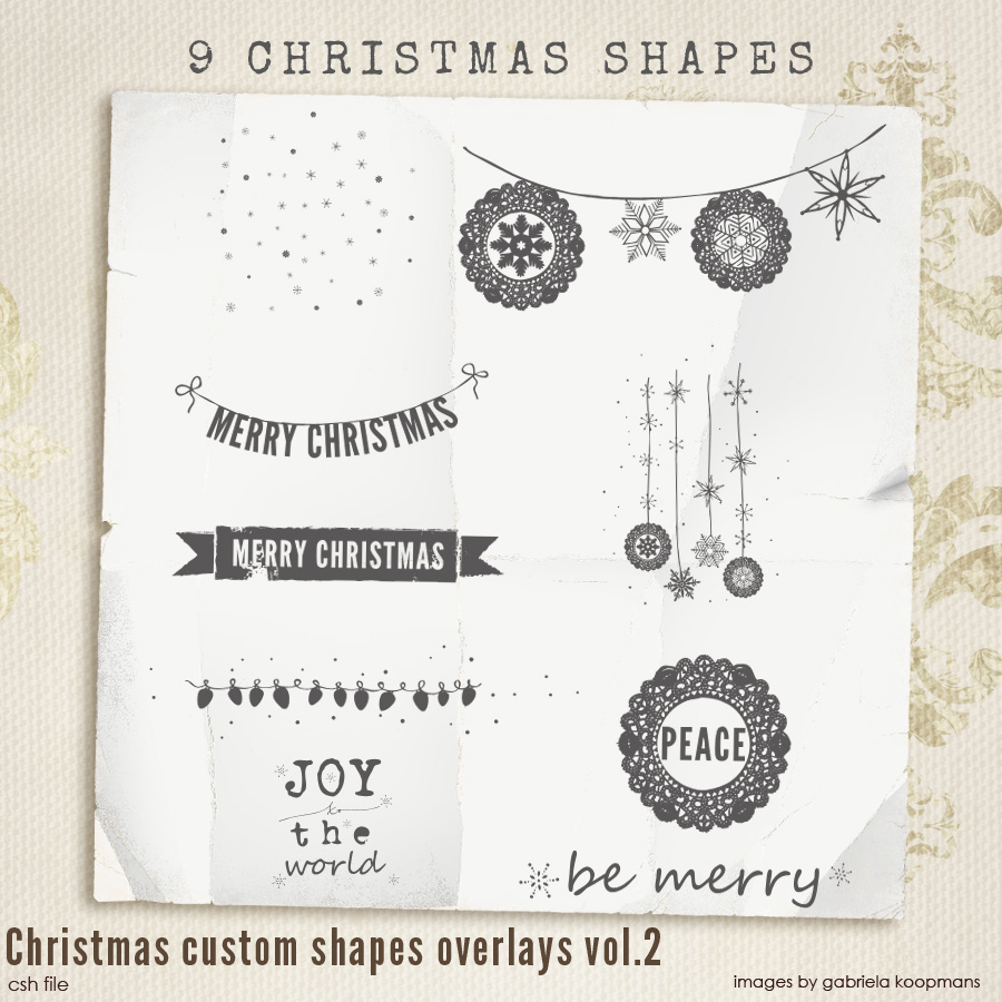 Christmas Custom Shapes Overlays vol.2
