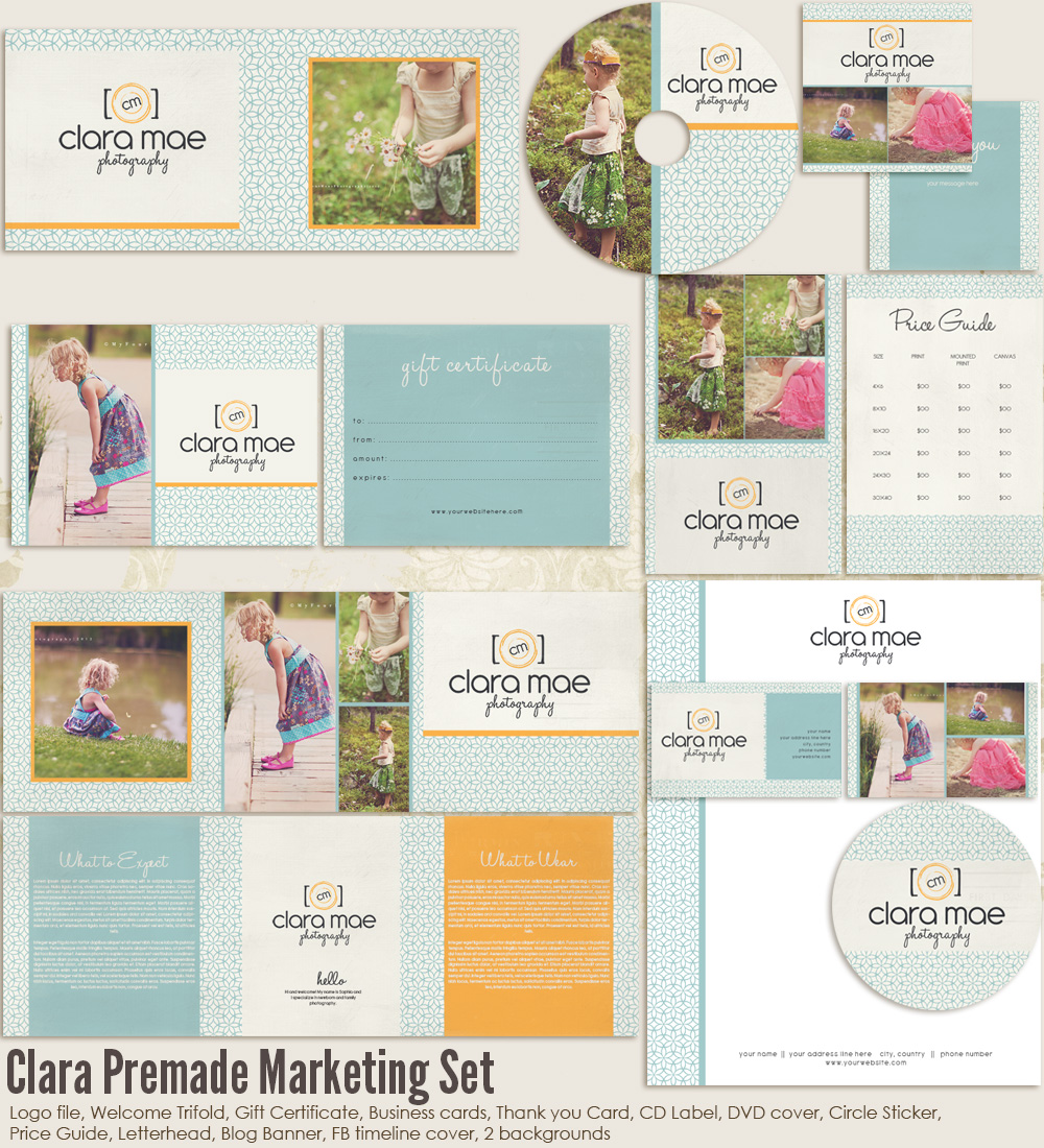 clara premade marketing set ms clara 20 00 7thavenue designs