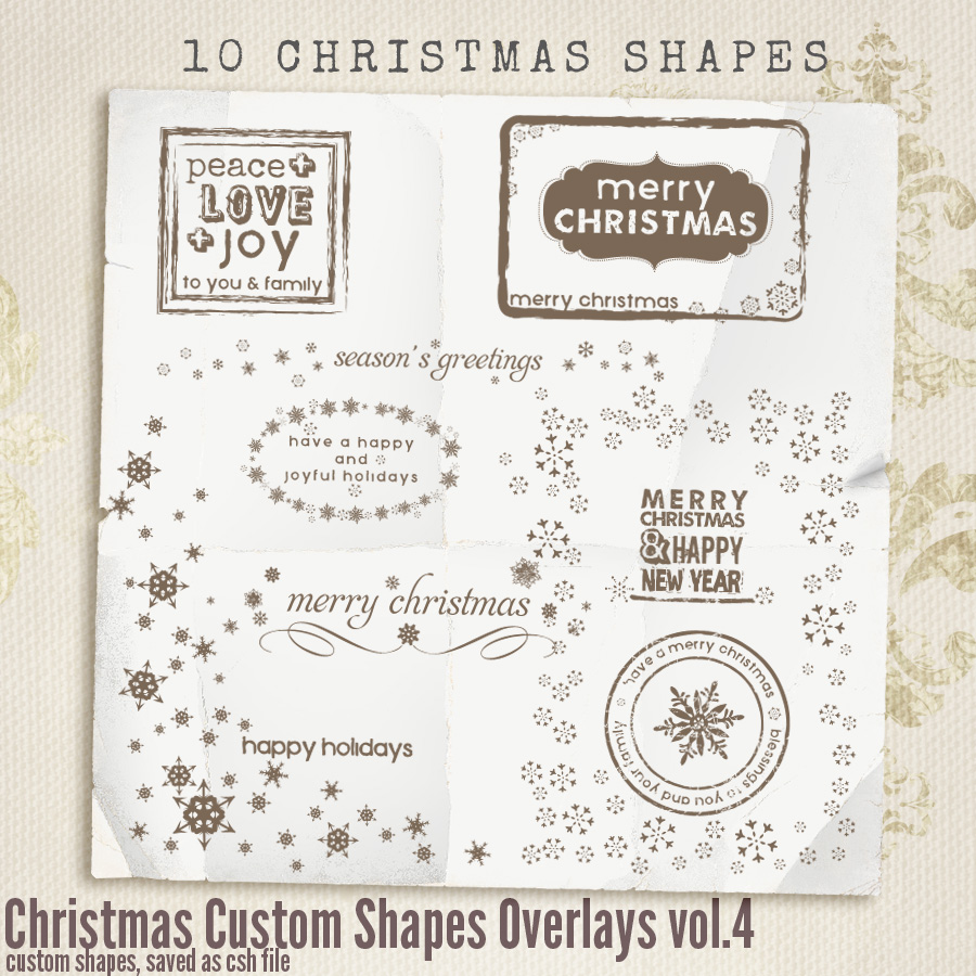 Christmas Custom Shapes Overlays vol.4