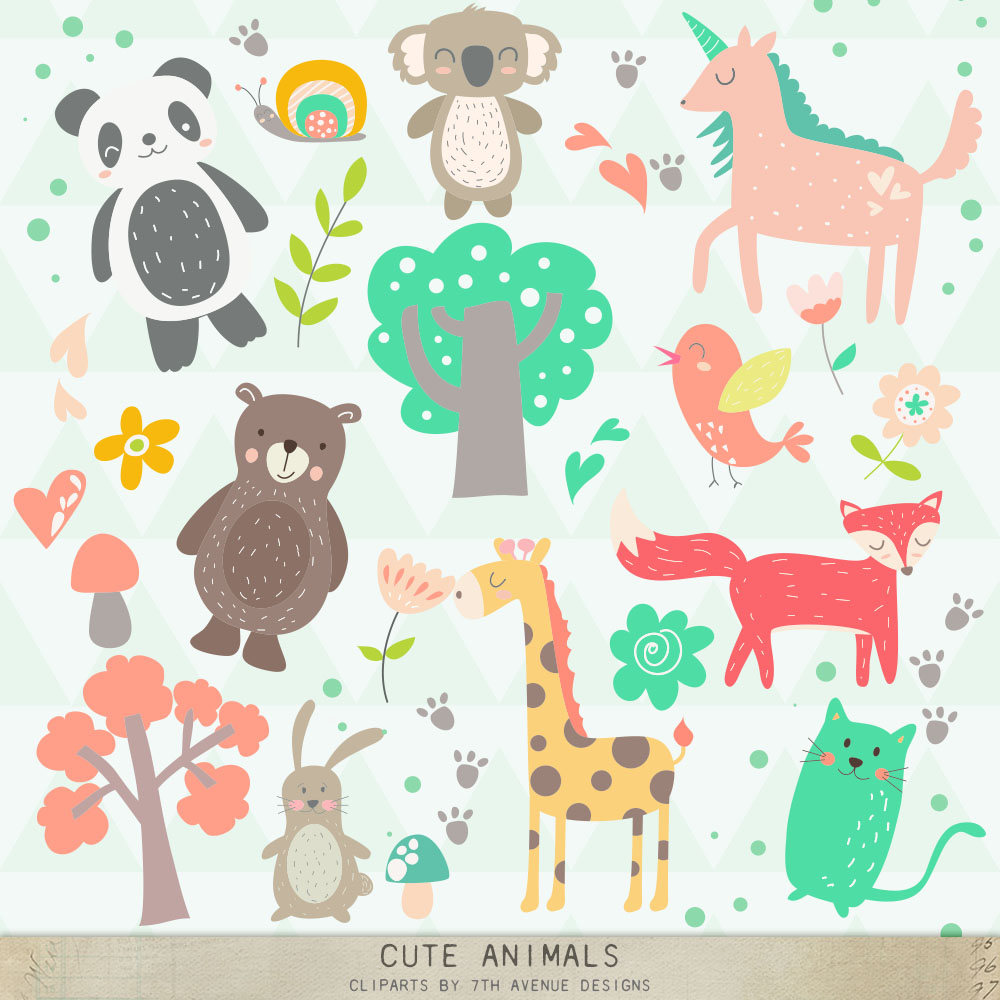 Cute Animals Cliparts