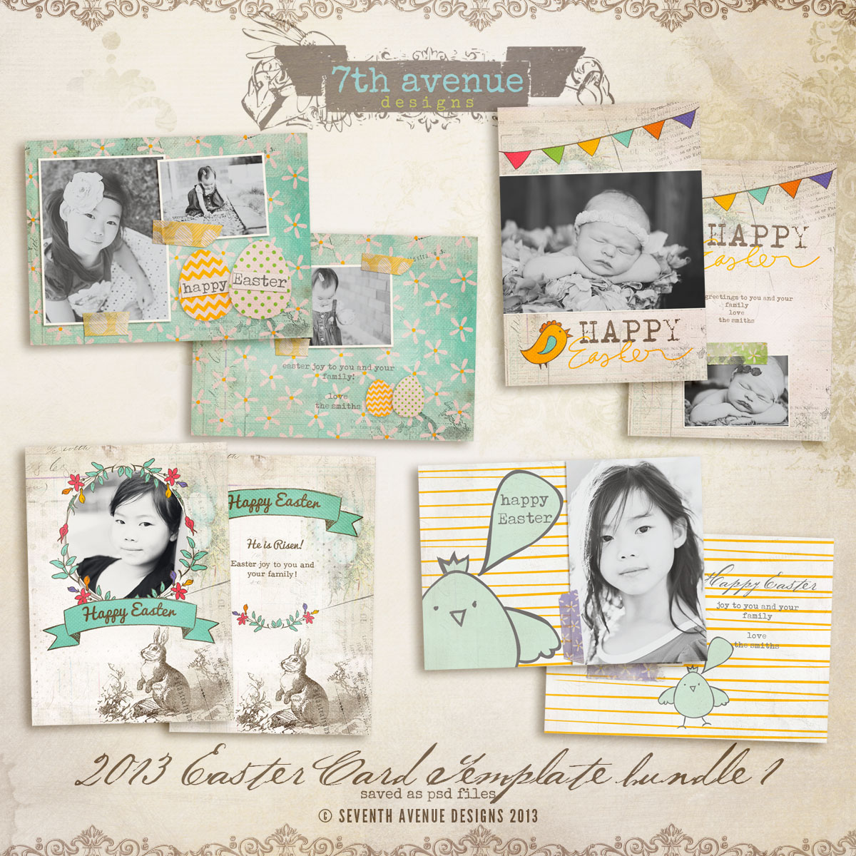 2013 Easter Card bundle 1