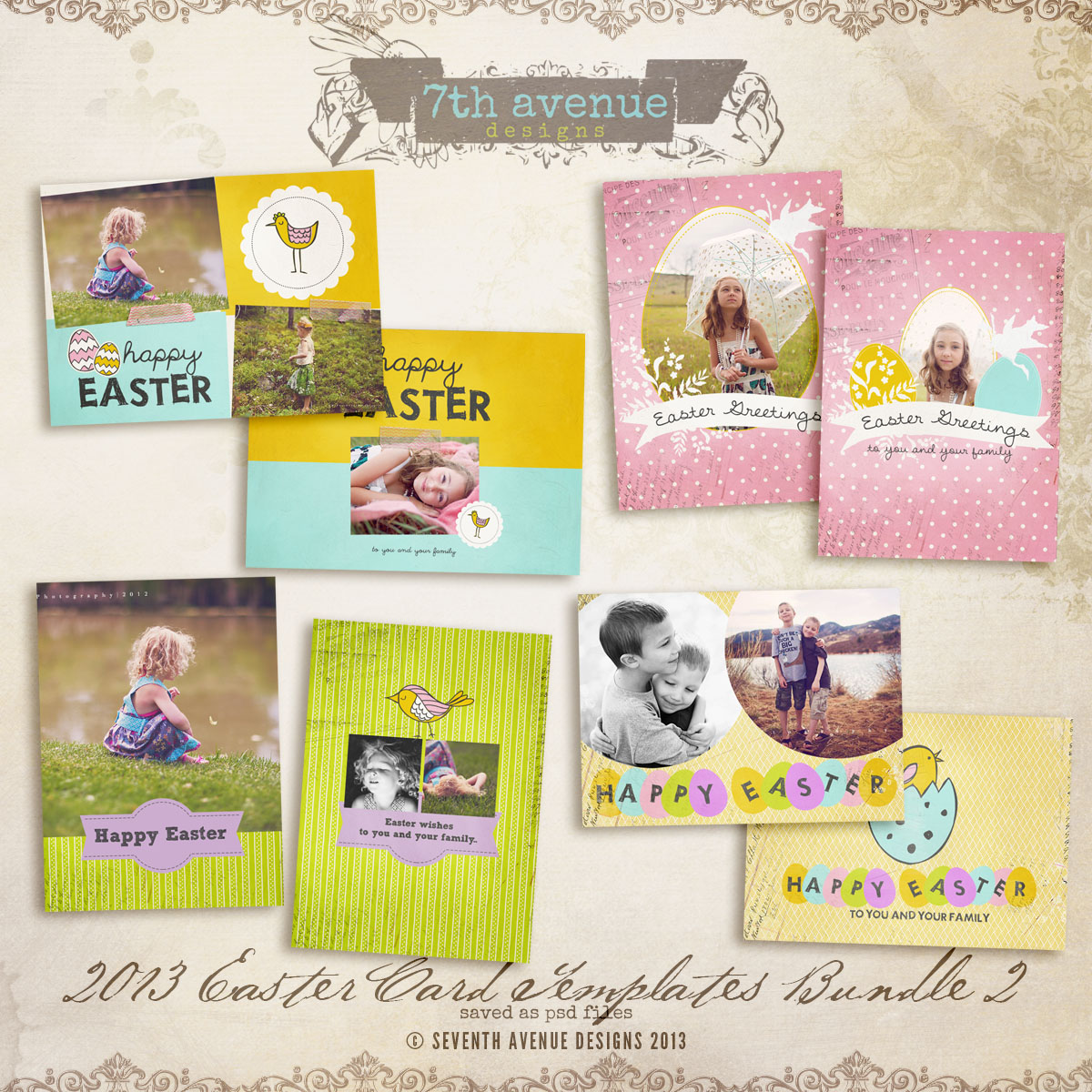 2013 Easter Card bundle 2