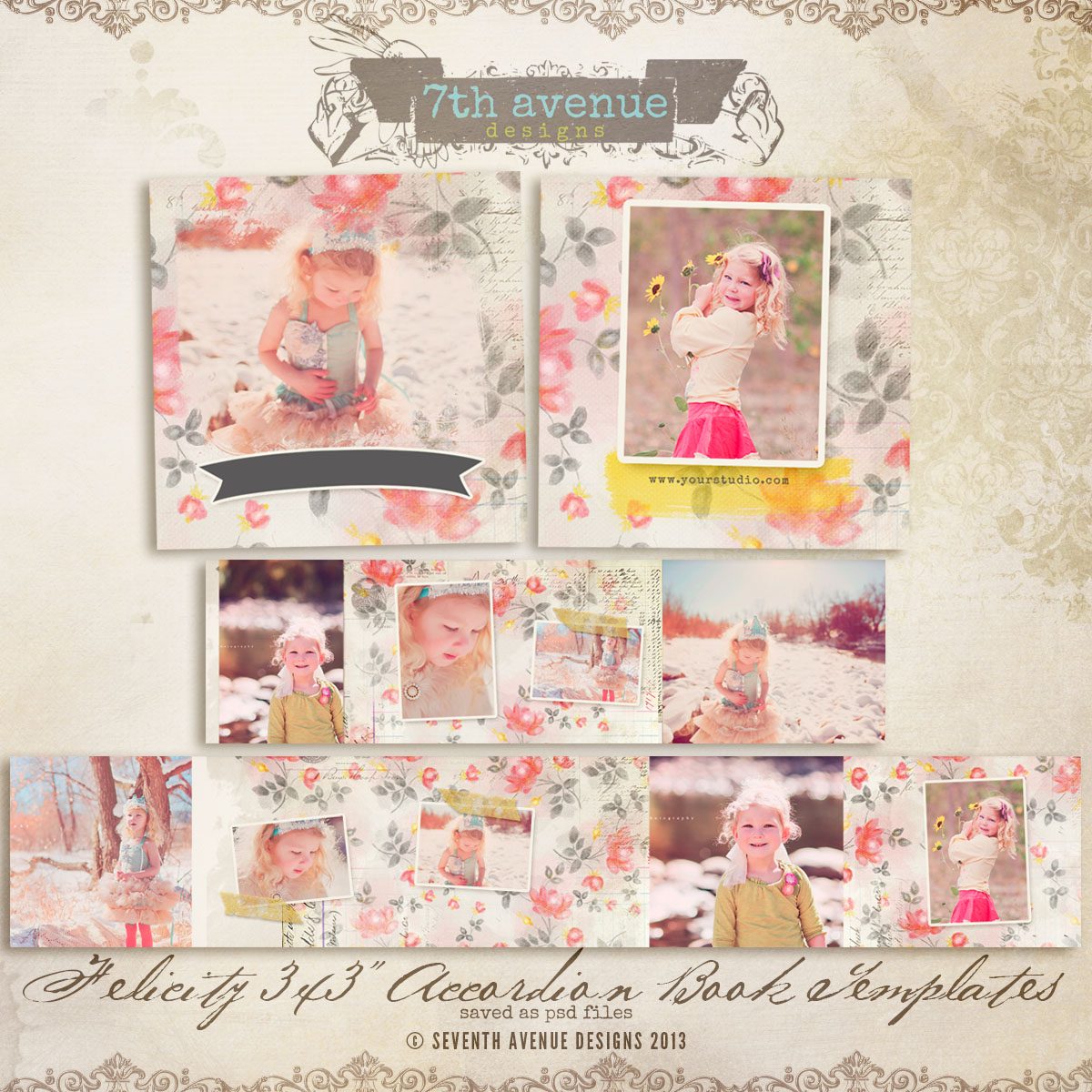 Felicity 3x3 Accordion mini templates