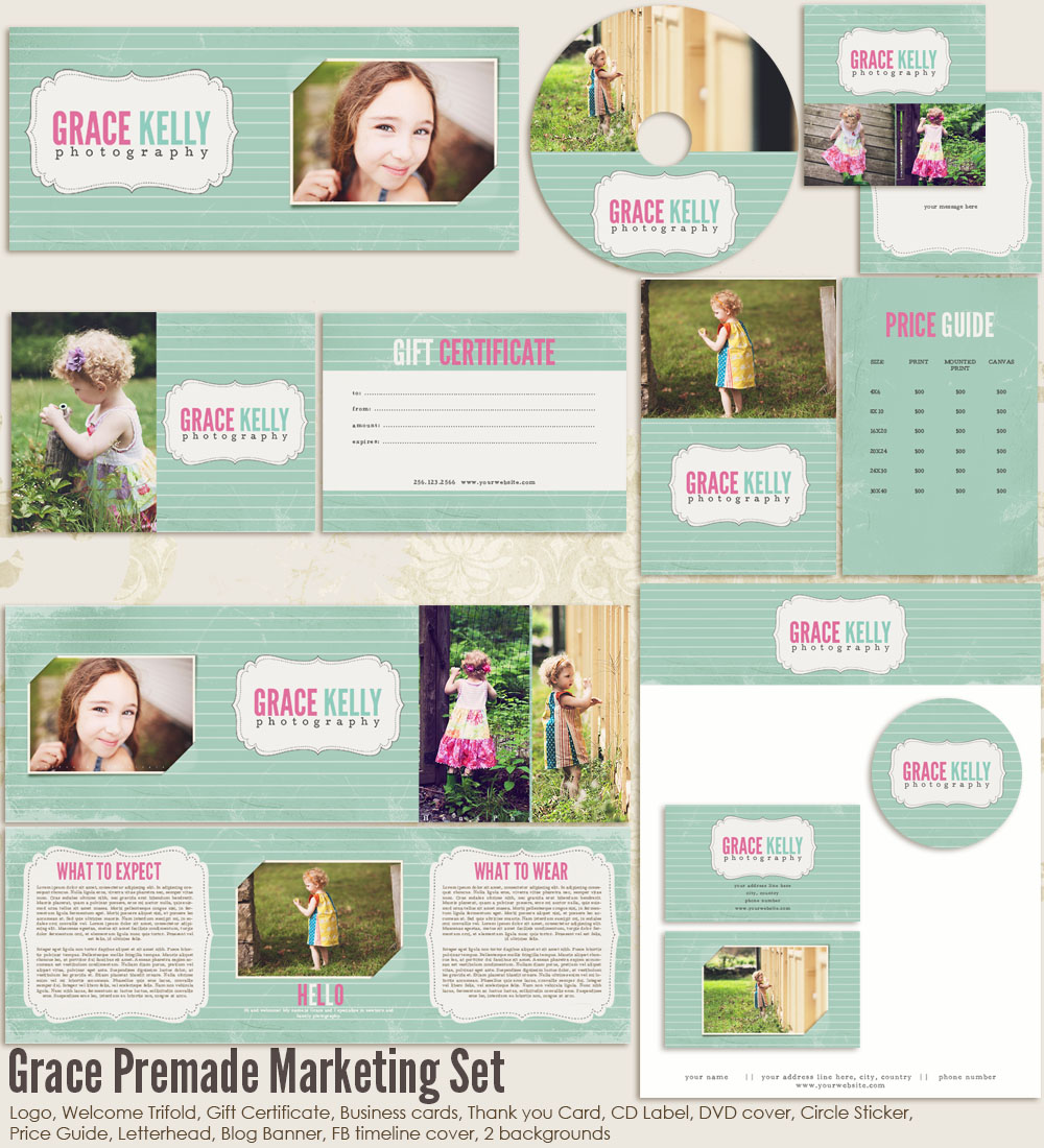 Grace Premade Marketing Set