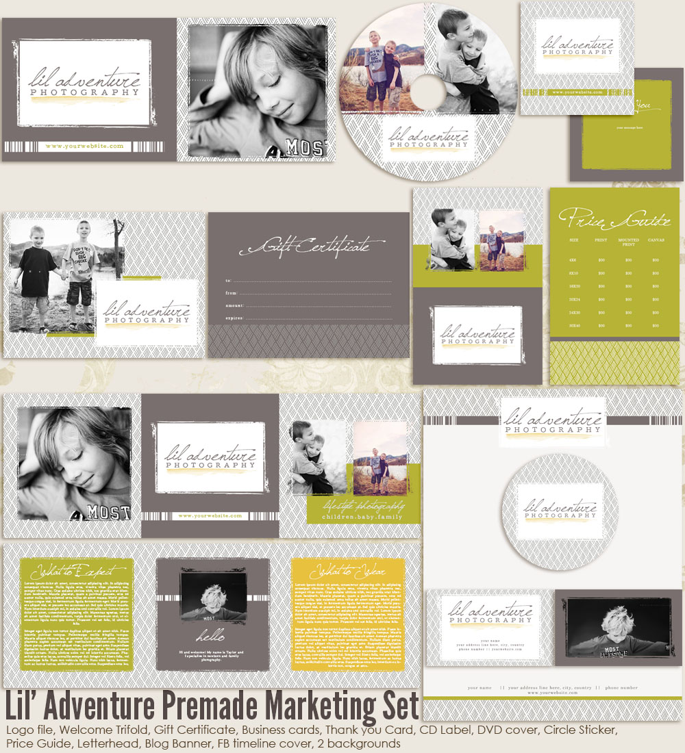Lil Adventure Premade Marketing Set