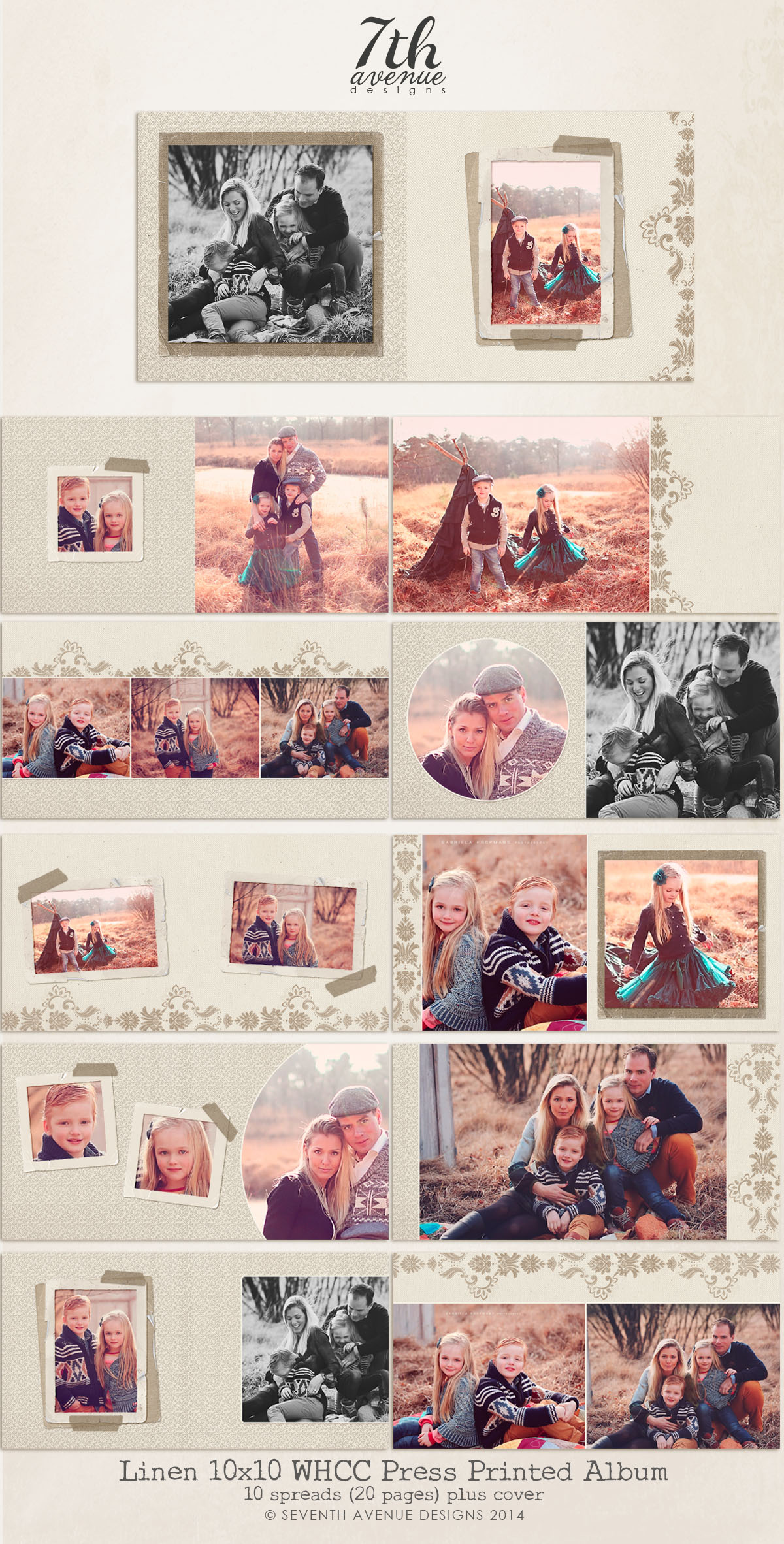 Linen 10x10 WHCC Press Printed Album