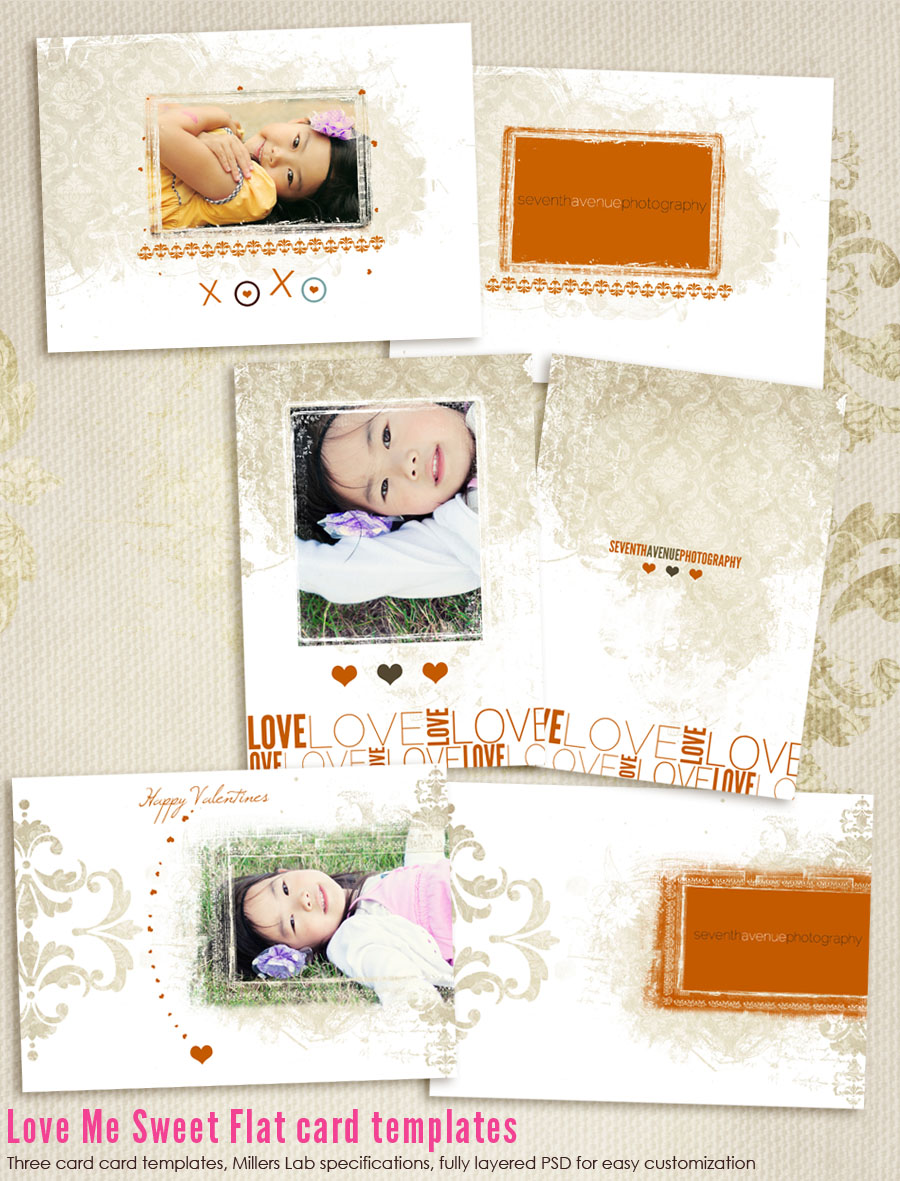 Love Me Sweet Card Templates