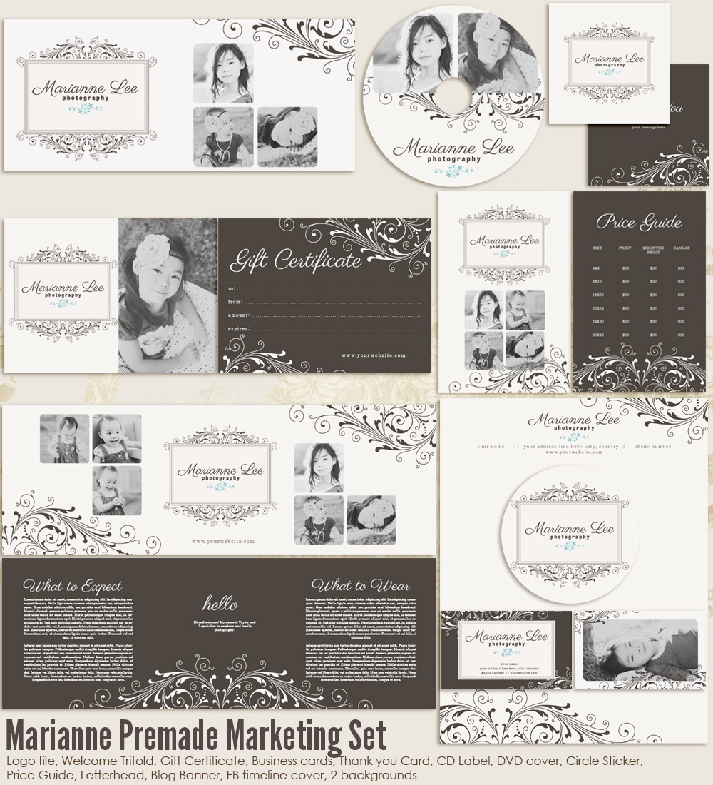 Marianne Premade Marketing Set