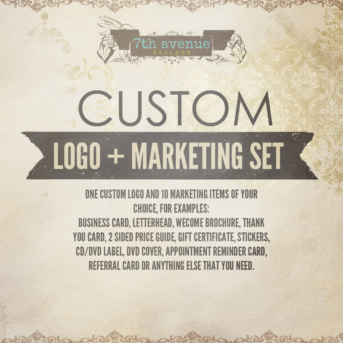 Professional Custom Logo + Marketing Set