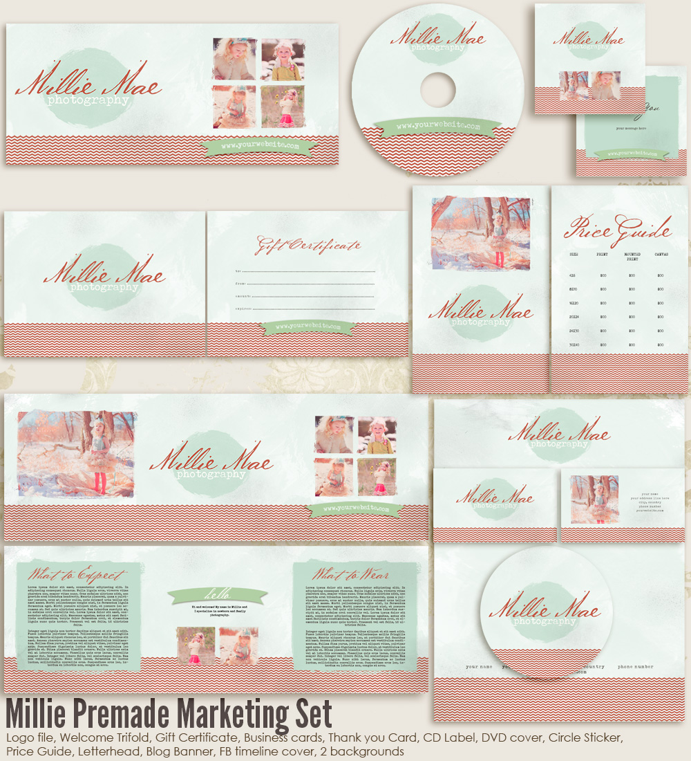 Millie Premade Marketing Set
