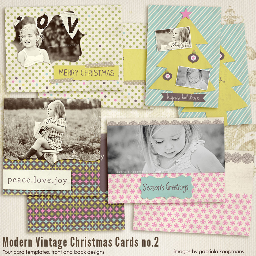 Modern vintage christmas cards 1