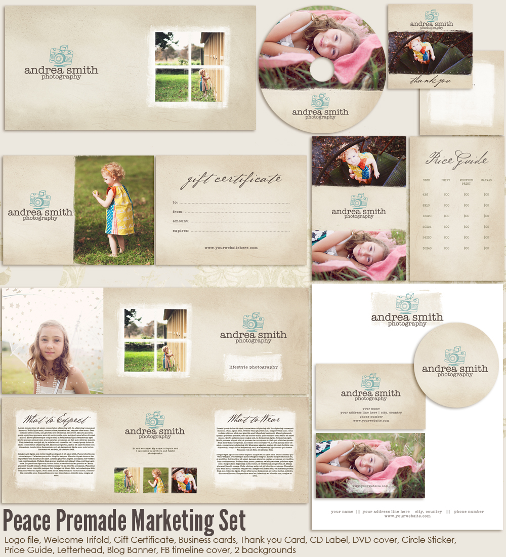 Peace Premade Marketing Set