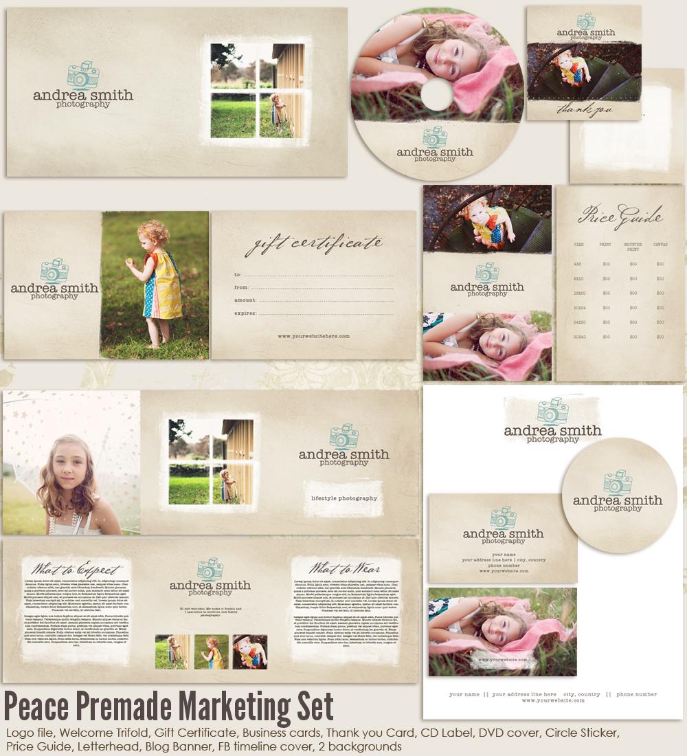 Peace Premade Marketing Set Ms Peace 20 00 7thavenue Designs