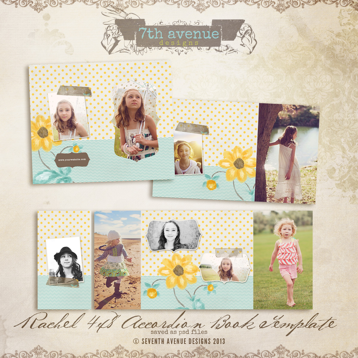 Rachel 4x8 Accordion book templates