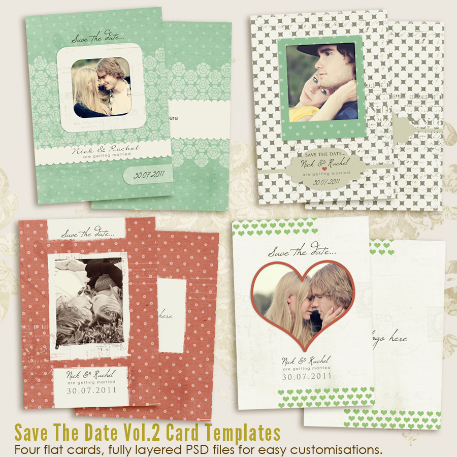 Save The Date vol.2 CARD templates