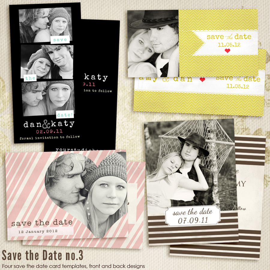 Save The Date vol.3 CARD templates