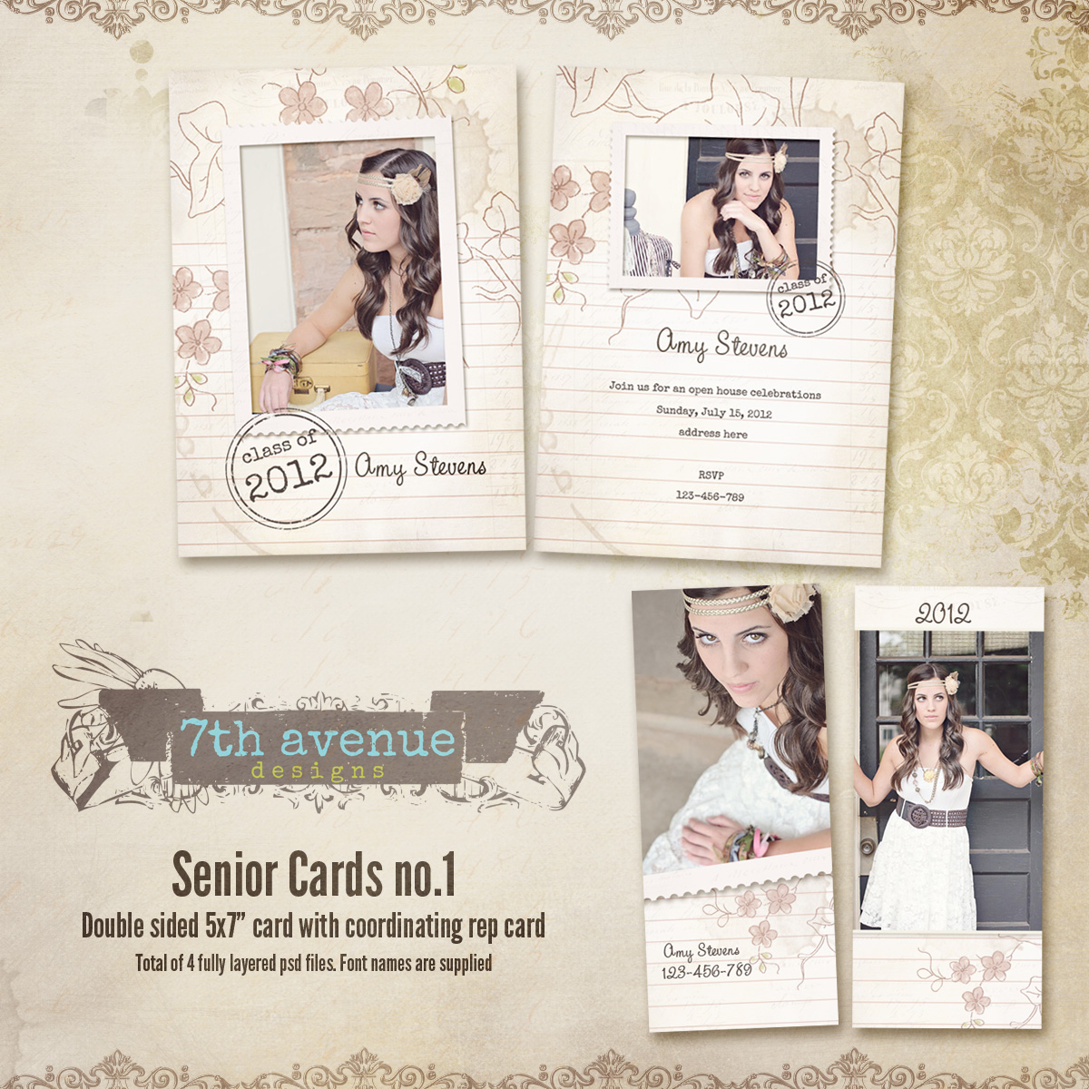 Senior Card Templates no.1