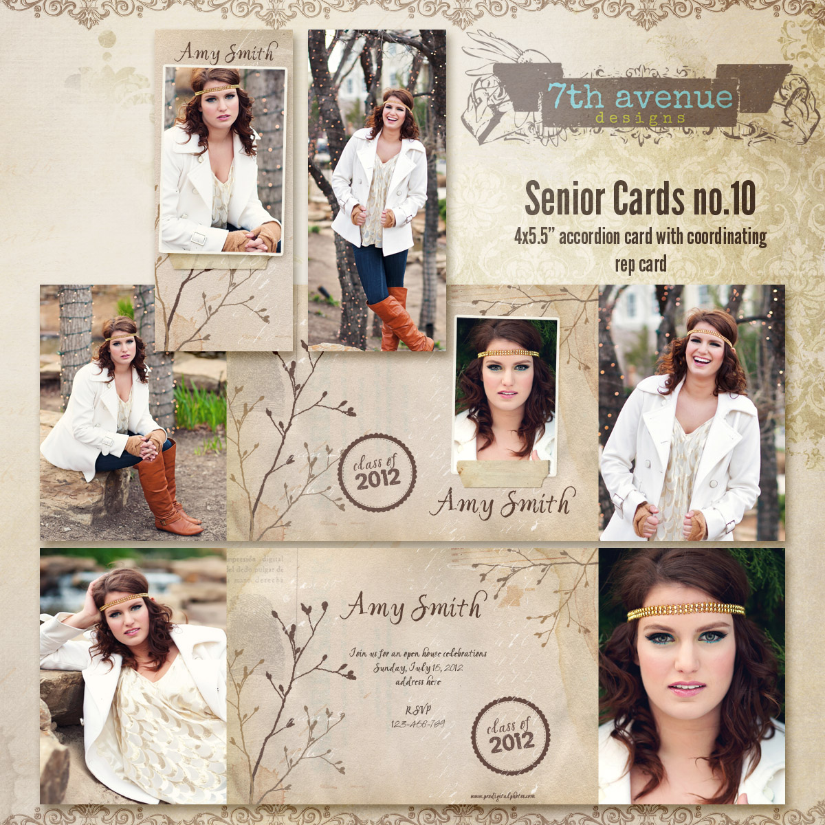 Senior Card Templates no.10