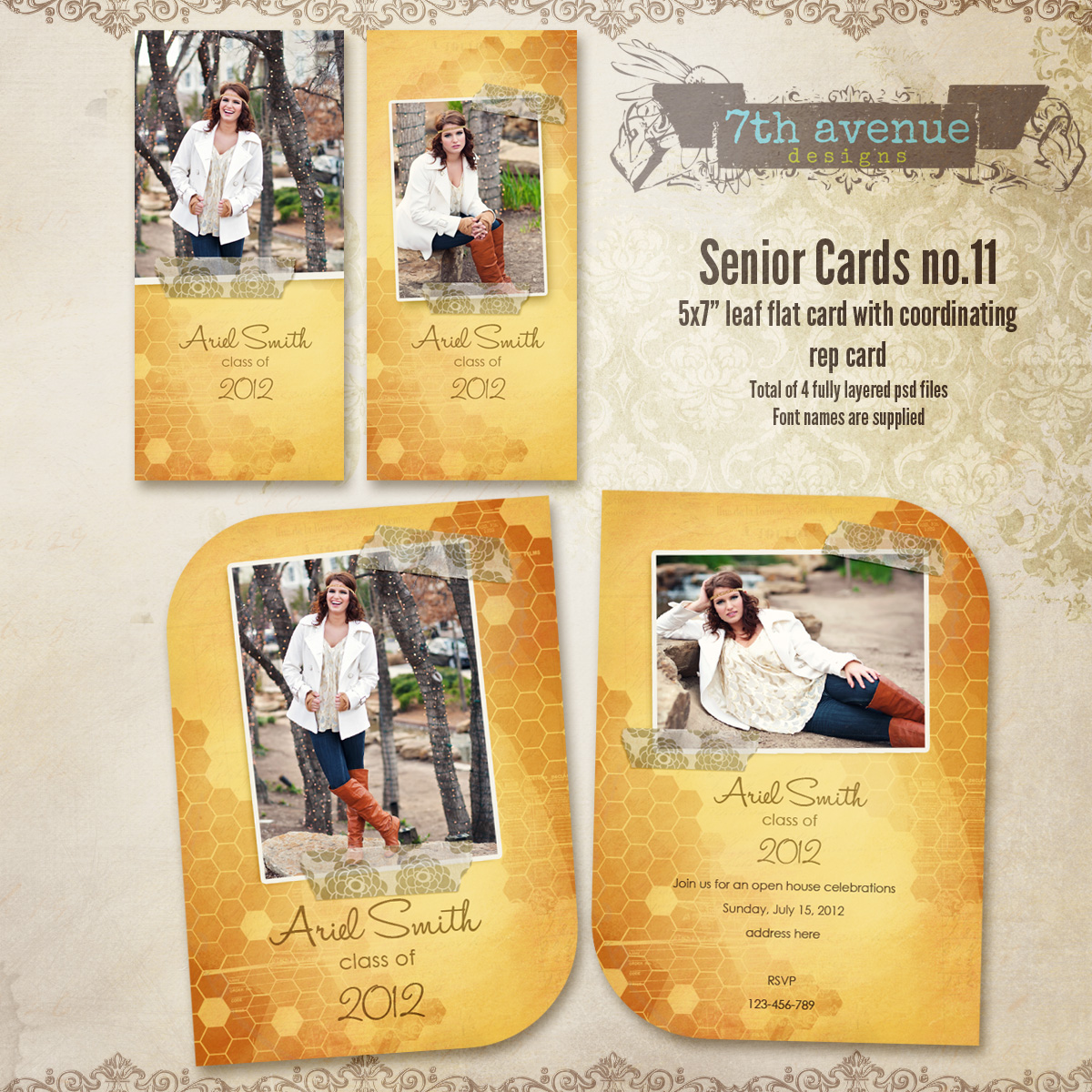 Senior Card Templates no.11