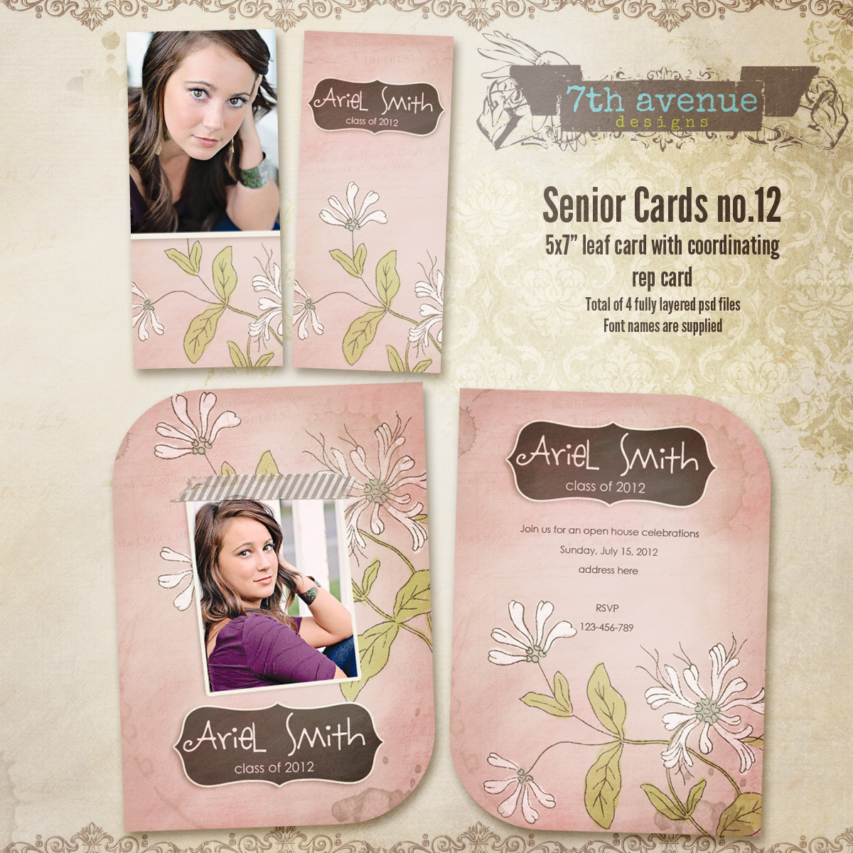 Senior Card Templates no.12