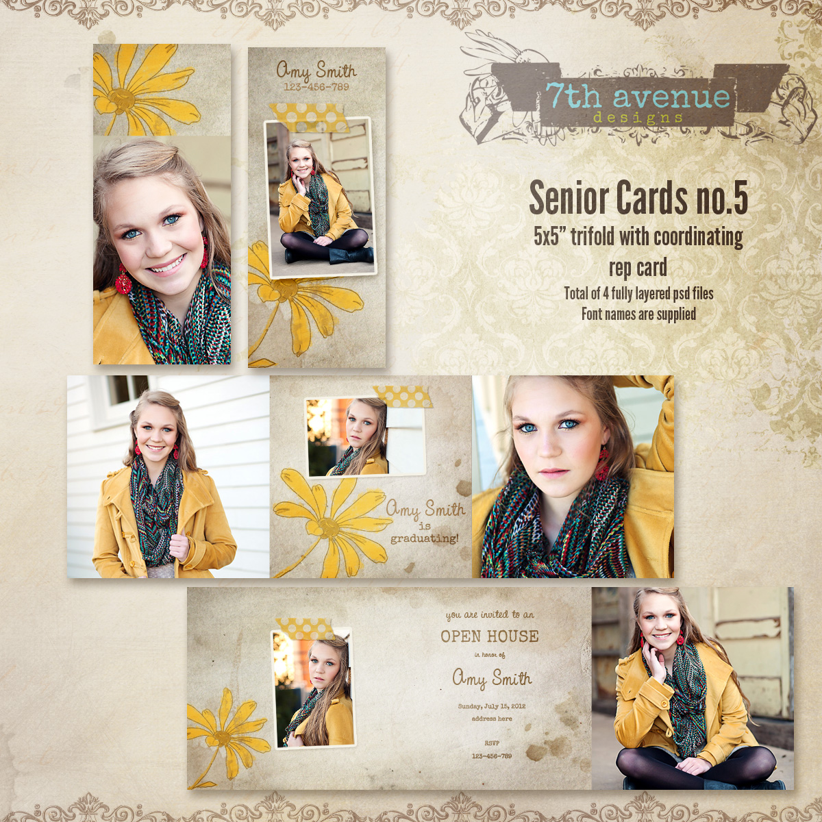 Senior Card Templates no.5