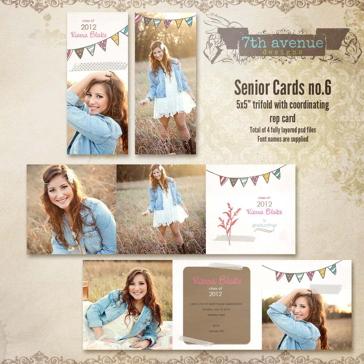 Senior Card Templates no.6
