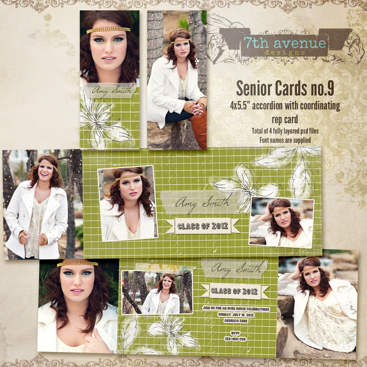 Senior Card Templates no.9
