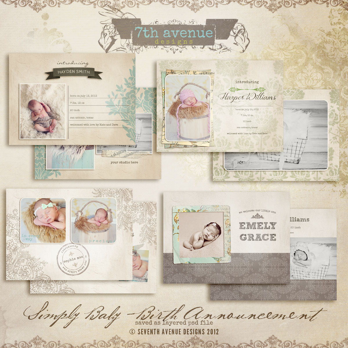 doc birth announcements templates birth animal friends flat birth announcement card templates cards birth announcements templates