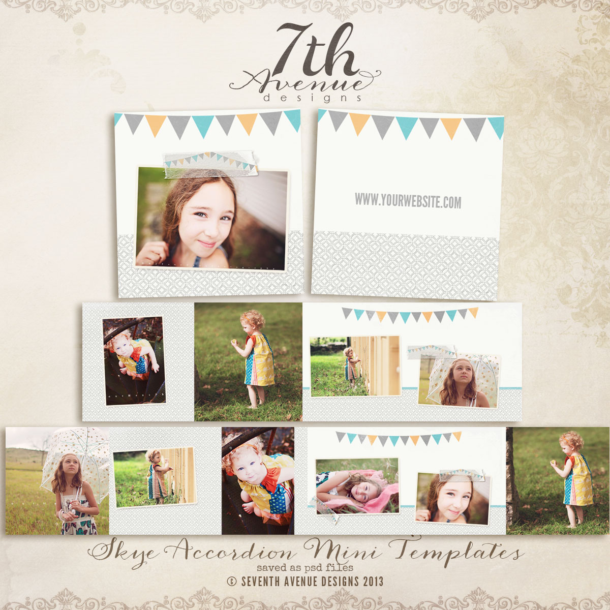 Skye 3x3 Accordion mini templates