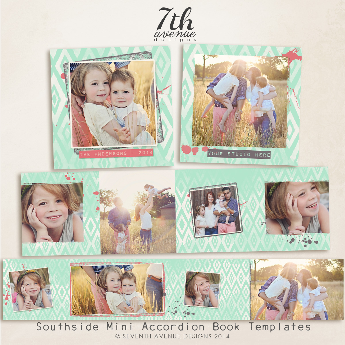 Southside 3x3 Accordion book templates