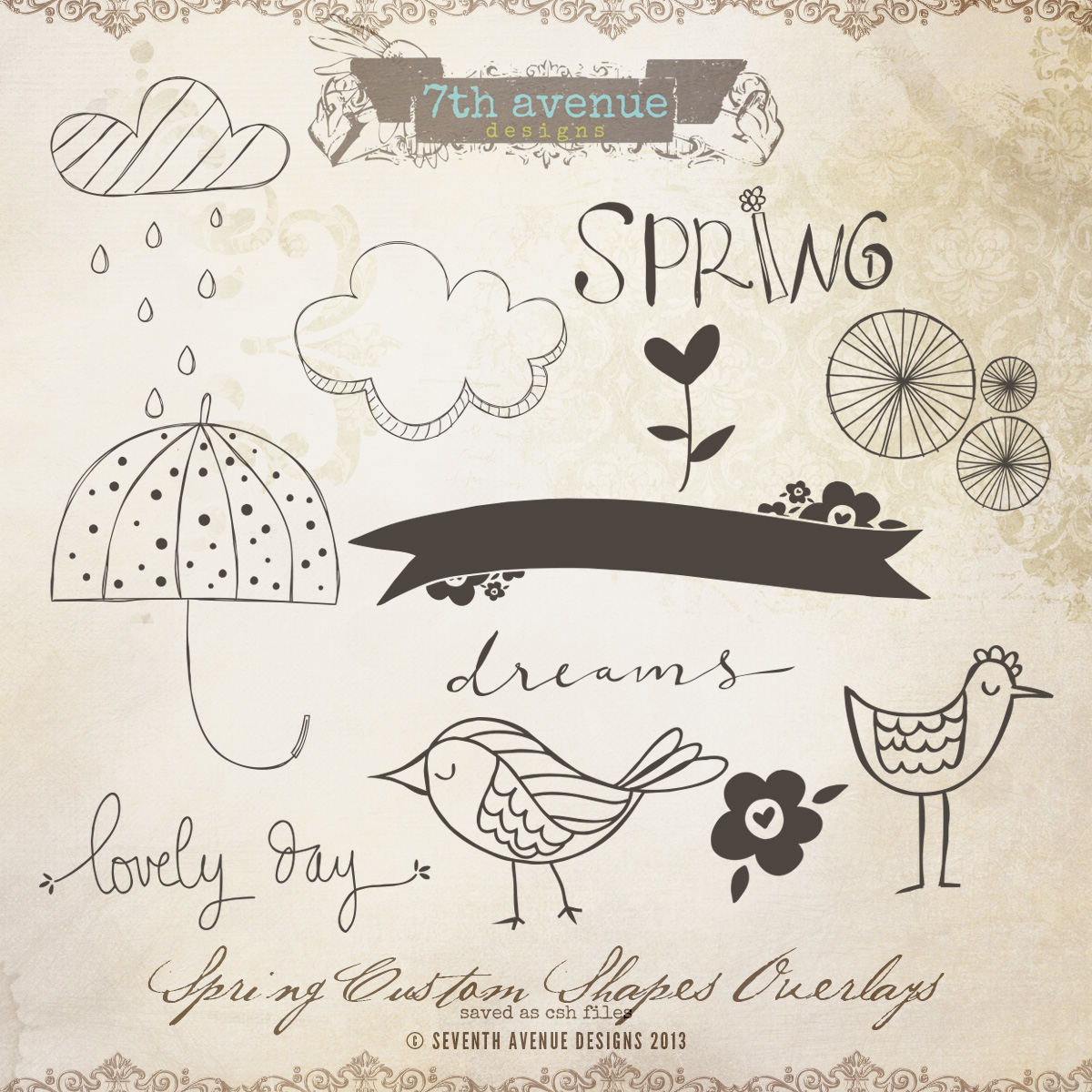 Spring Custom Shapes Overlays