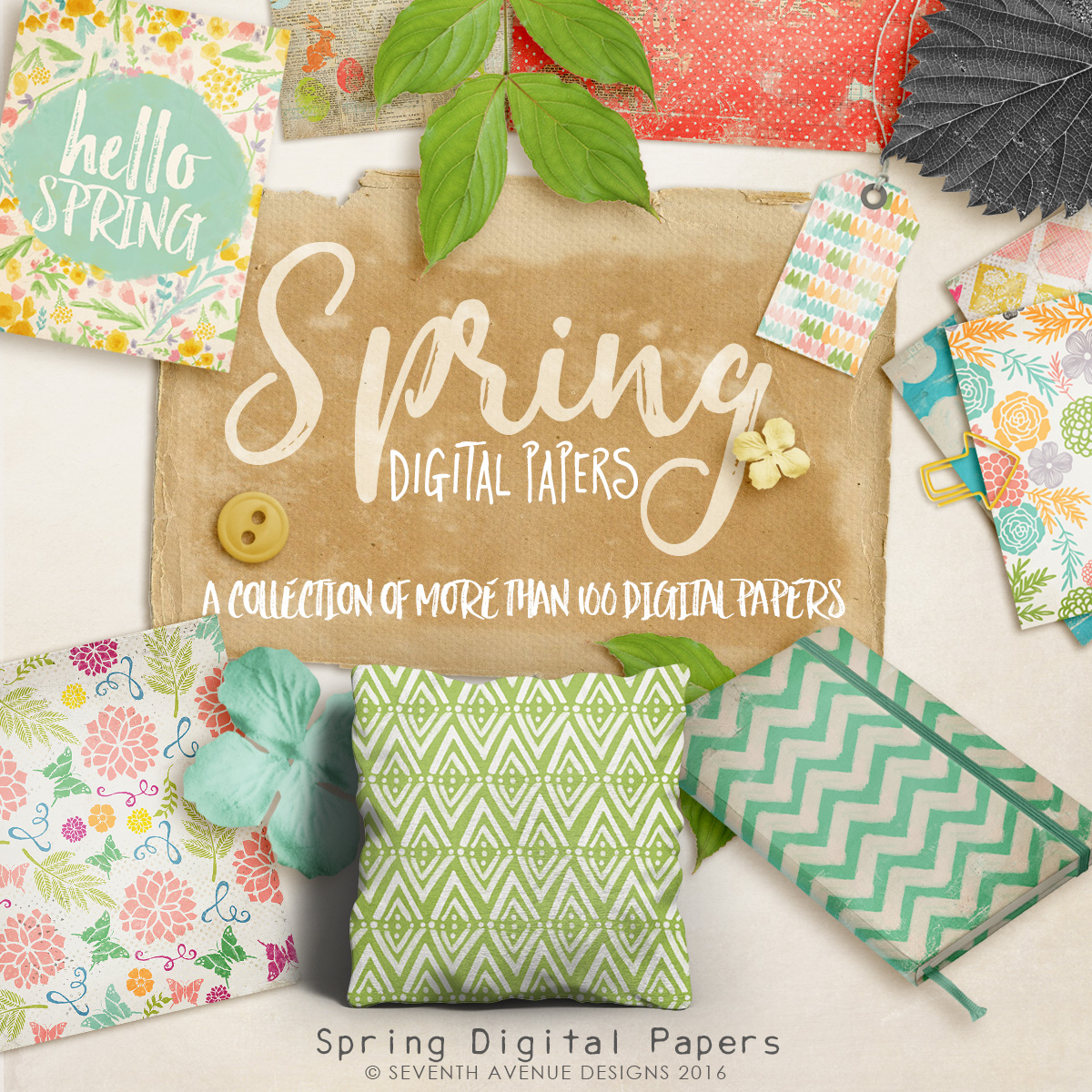 Spring Digital Papers Collection
