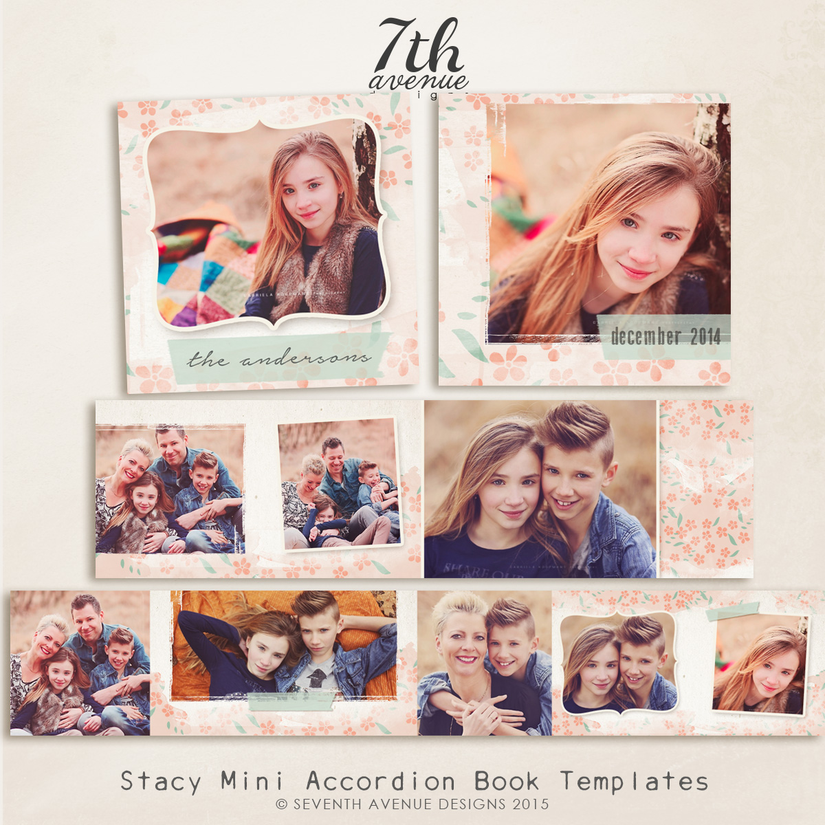 Stacy 3x3 Accordion book templates