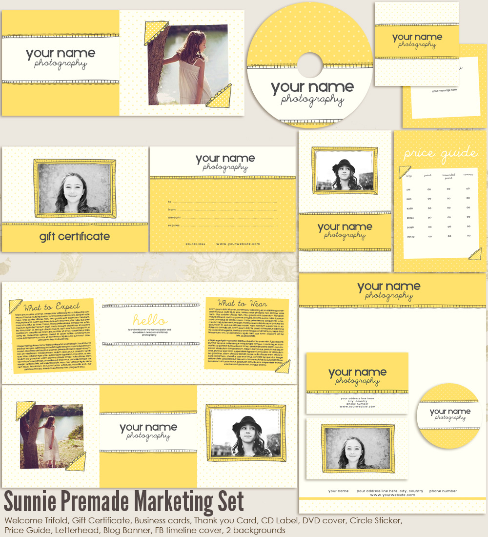 Sunnie Premade Marketing Set