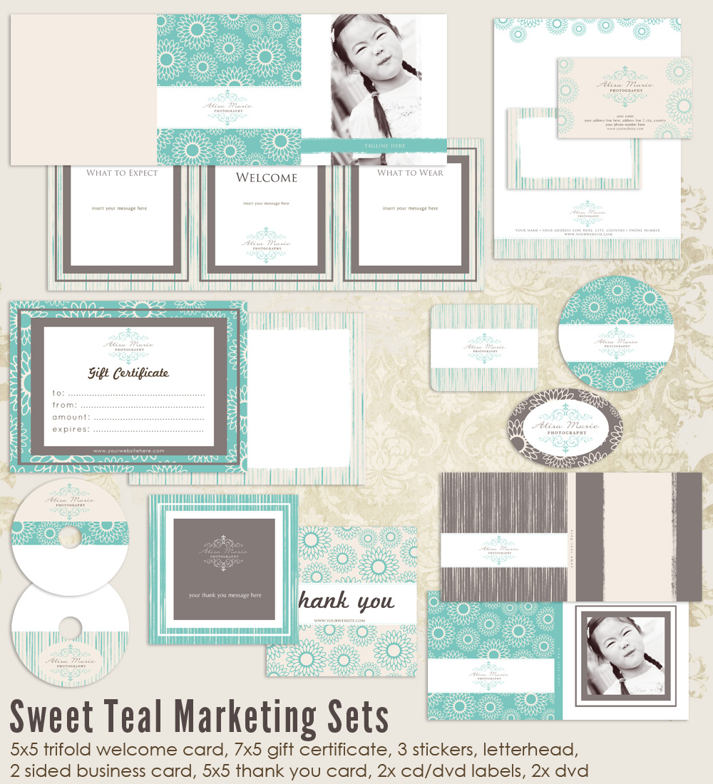 Sweet Teal Marketing Set