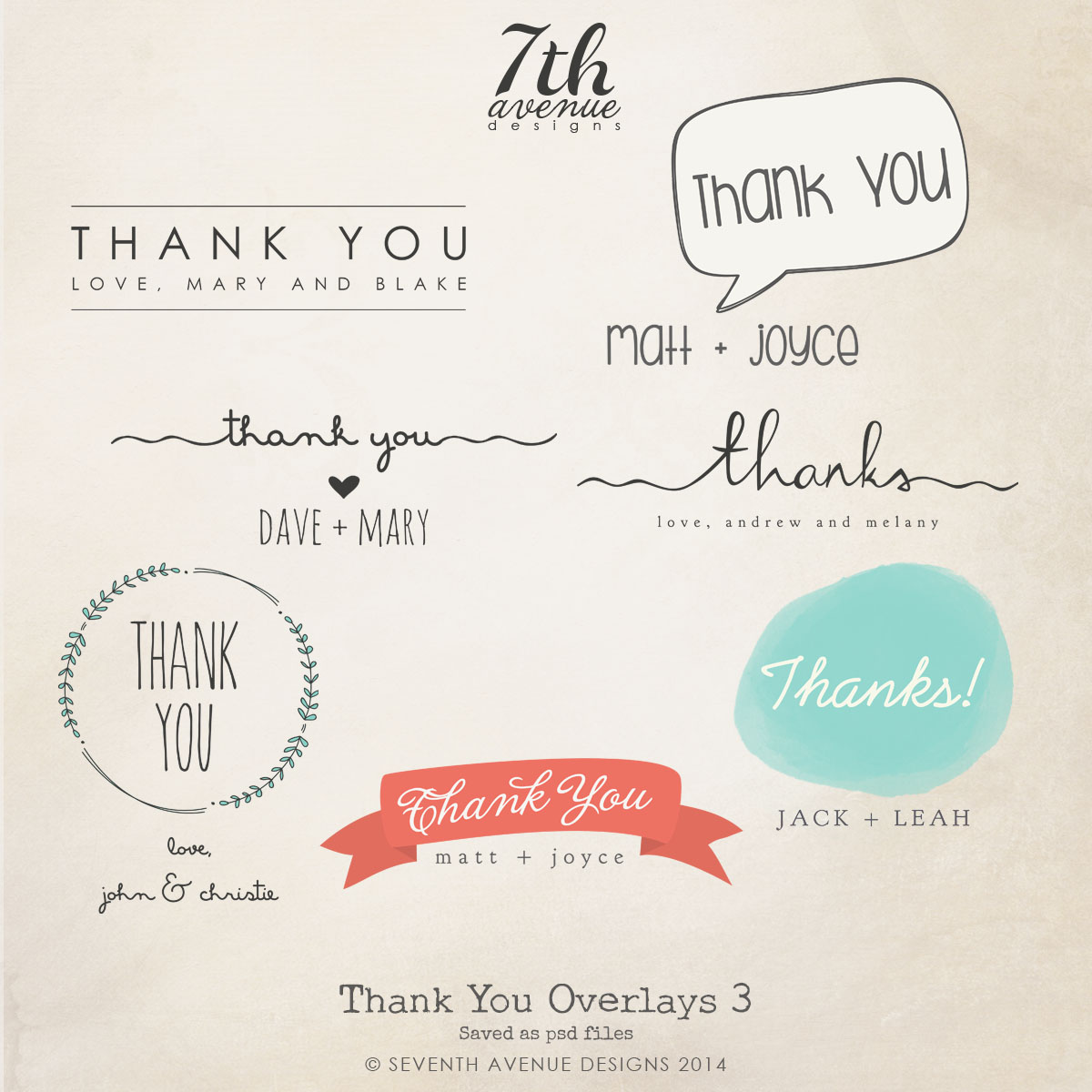 Thank You Overlays vol.3