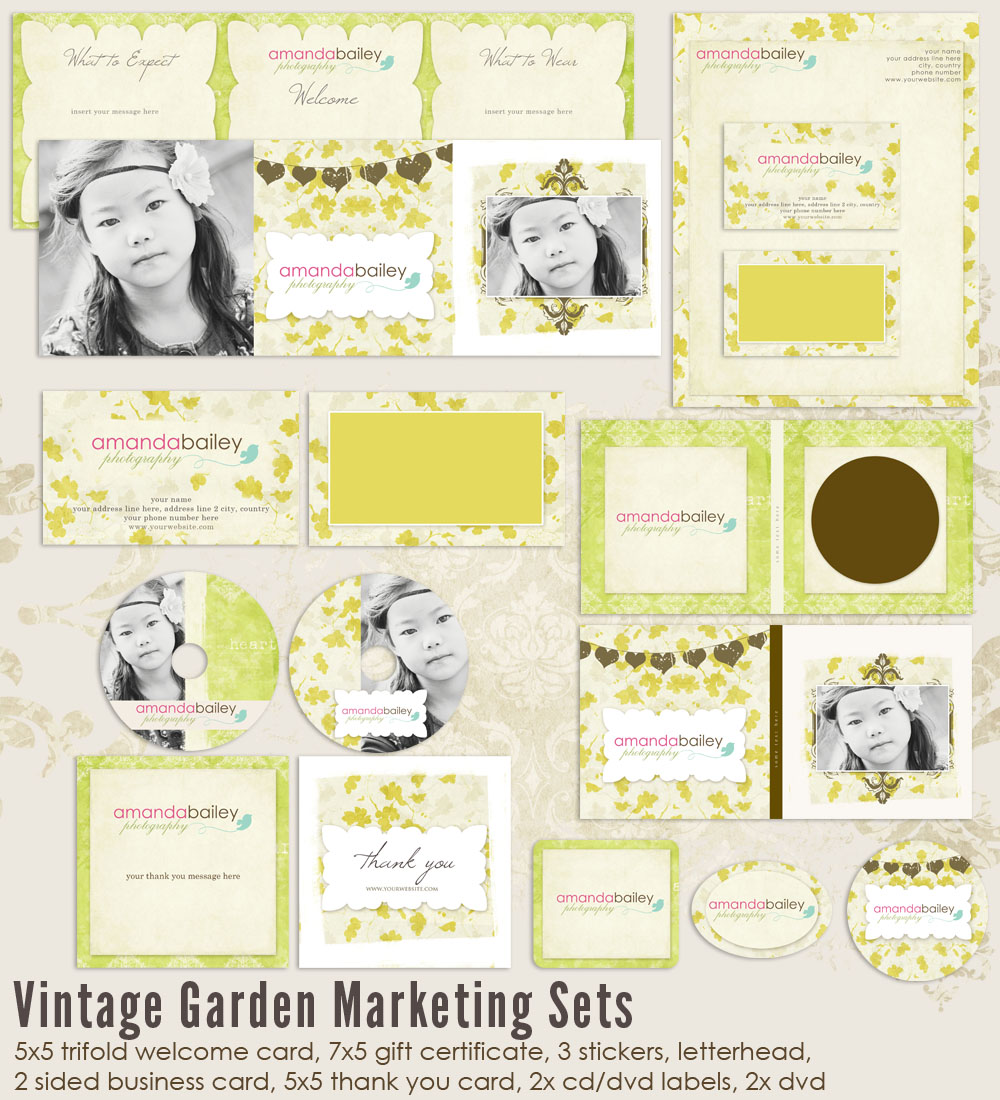 Vintage Garden Marketing Set