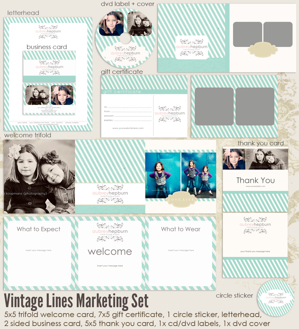 Vintage Lines Marketing Set