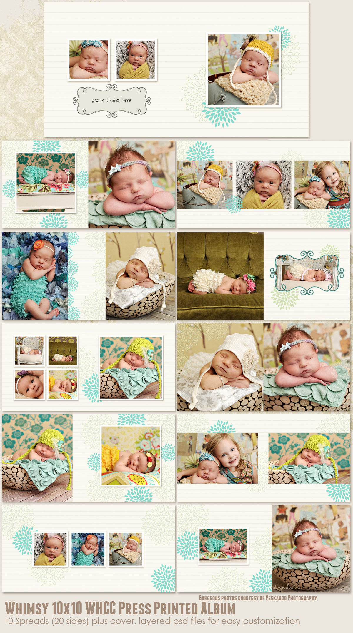 Whimsy 10x10 WHCC Press Printed Album