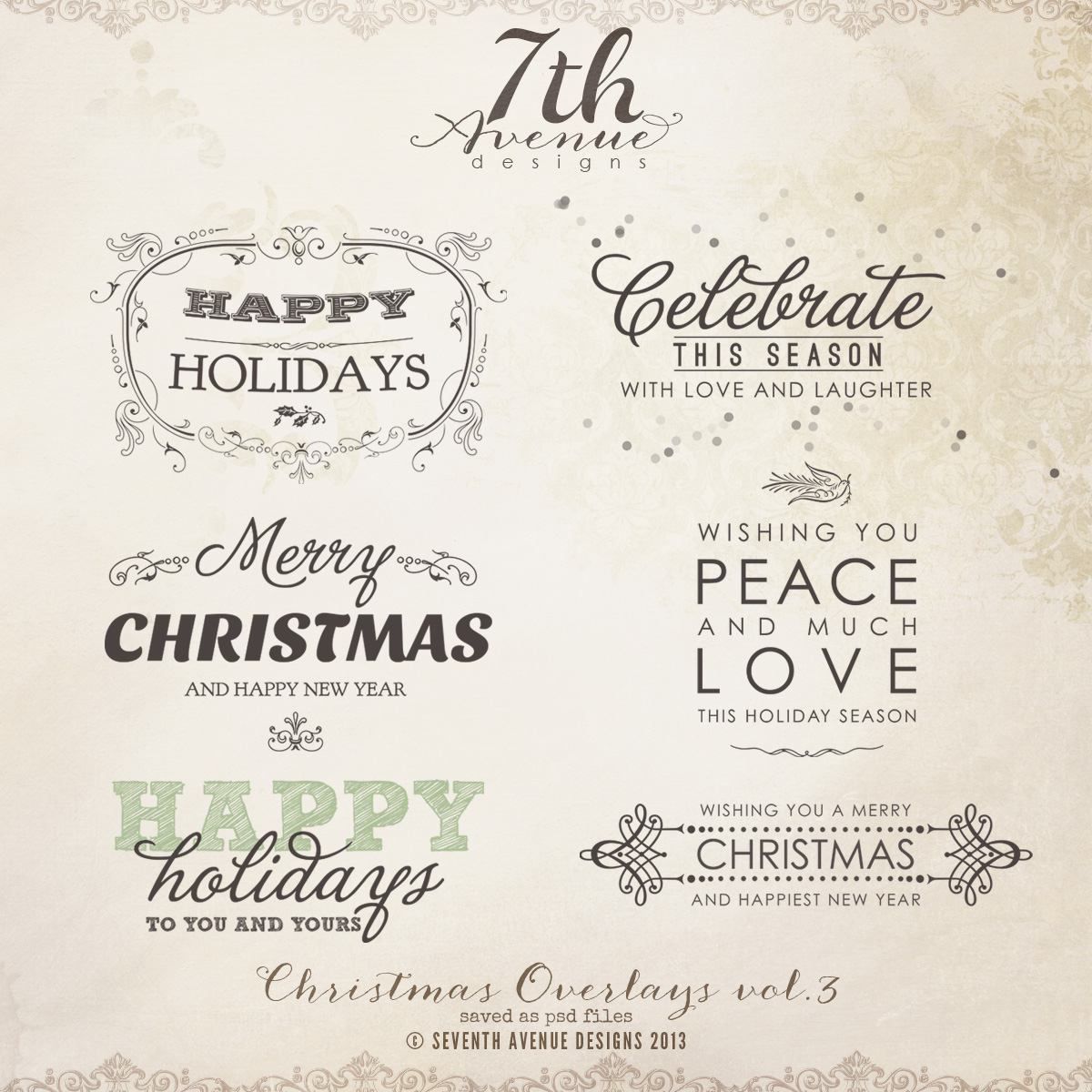 christmas overlays vol3 - Christmas Overlays
